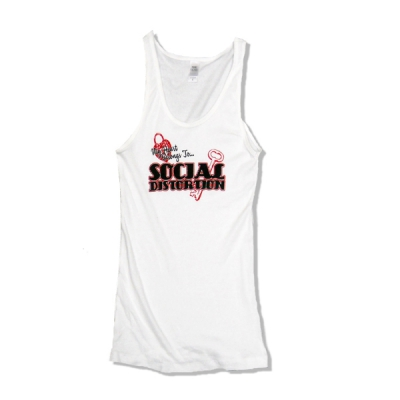 Social Distortion - My Heart | Girl Fitted Tank Top