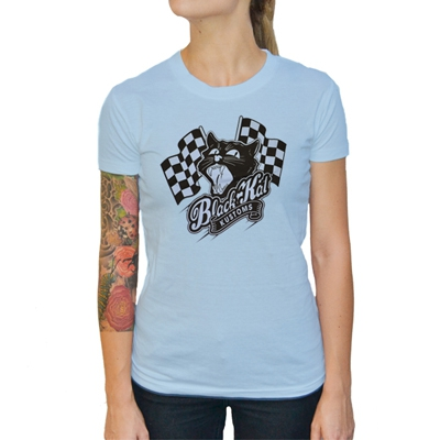 Black Kat Kustoms - Racing Kat | Girl Fitted T-Shirt